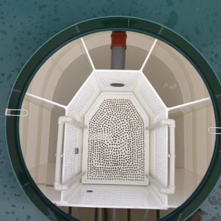 binnenkant afvalwaterzuivering systemen